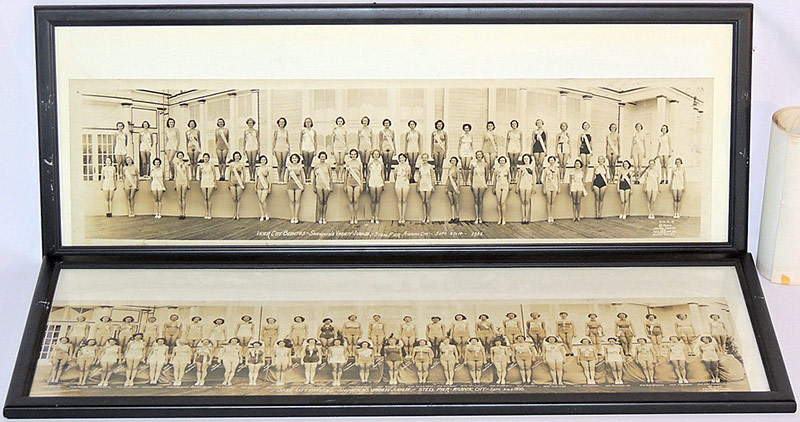 Four 1930s Miss America Panoramic Photographs (1935, 1936, 1937, 1938). $1,452