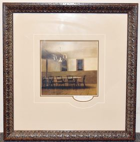 47. Large Framed Verre Eglomisé Silhouette Grouping. $338.25
