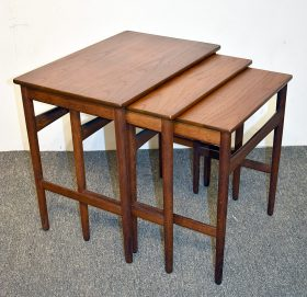 3. Danish Modern Teak and Glass Cocktail Table. $430.50