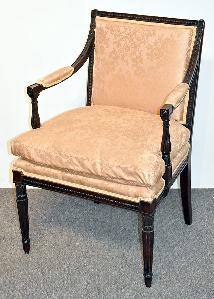 1. Georgian Mahogany Library Armchair. $649