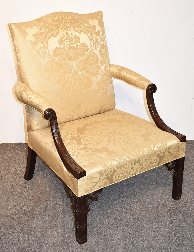2. Georgian Mahogany Library Armchair. $4,720