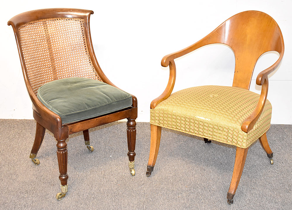 3. Two Empire Chairs. $236