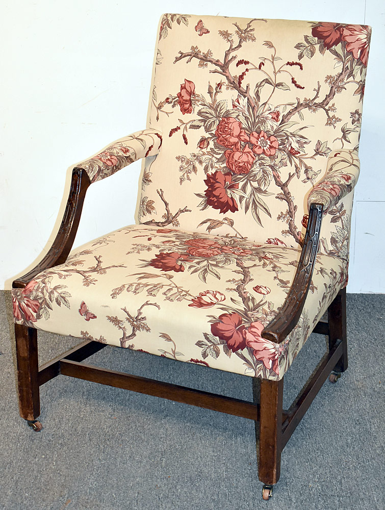 8. Georgian Mahogany Library Armchair. $1,045.50
