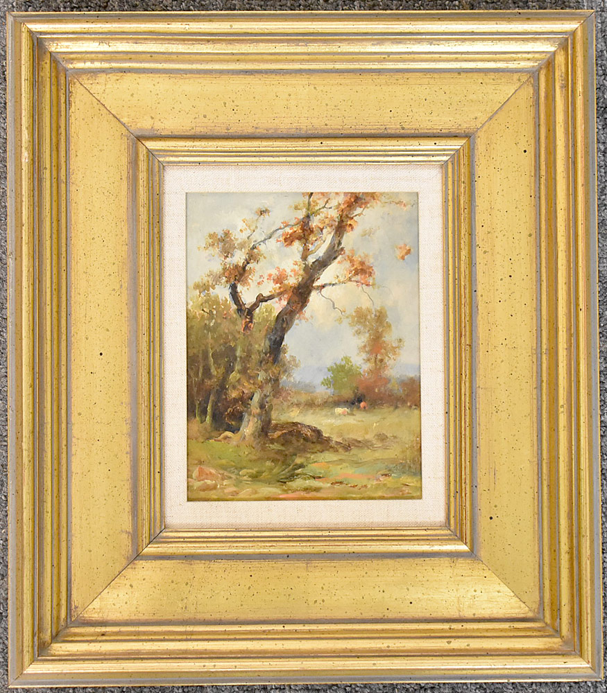13. Attrb. Franklin D. Briscoe Oil/Panel, Landscape. $236