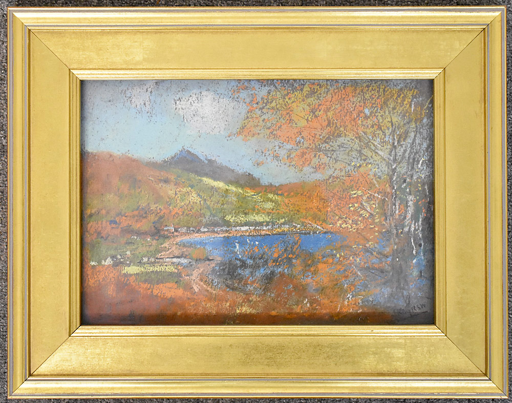 14. James Kay Pastel on Paper, Mountain Lake. $276.75
