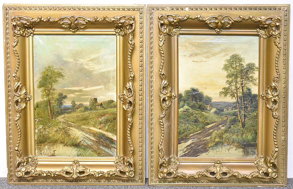 17. Two Edwin Cole Oil on Canvas Landscapes. $295