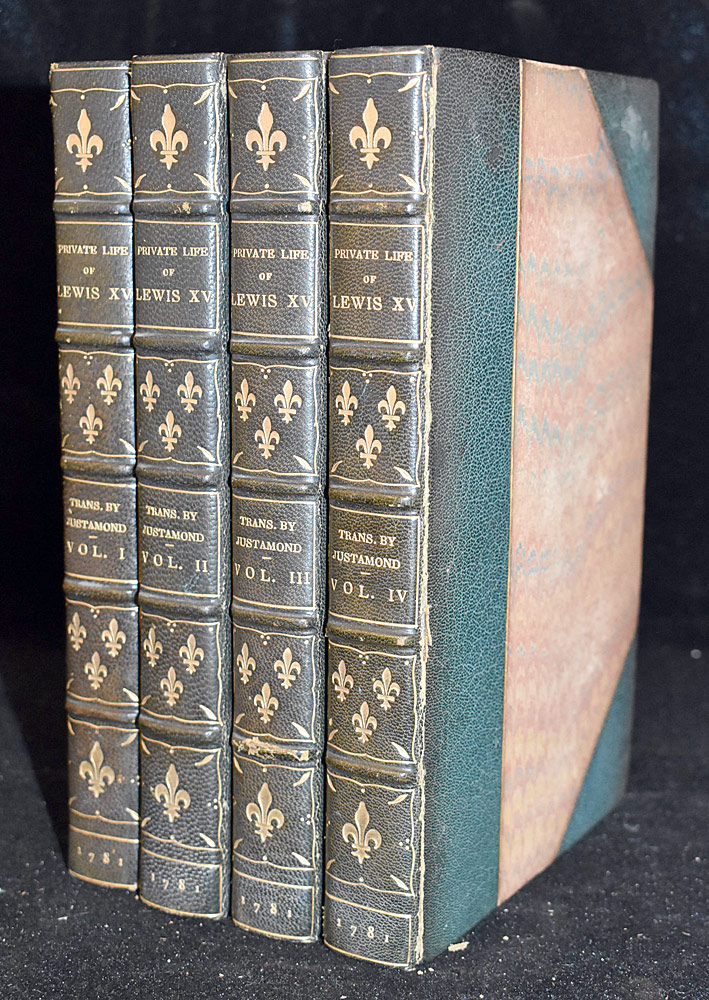 24. Four Vols. The Private Life of Lewis XV, 1781. $82.60