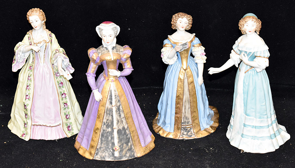 30. Four Sevres Porcelain Figures of Women. $354