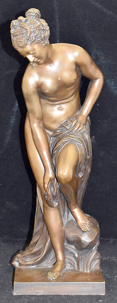 34. Victor Paillard Bronze Sculpture, Female Nude. $472