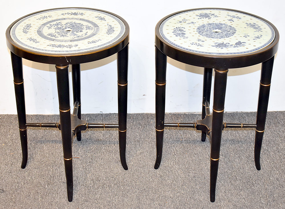 41. Pair of Chinese Porcelain Strainer Side Tables. $826