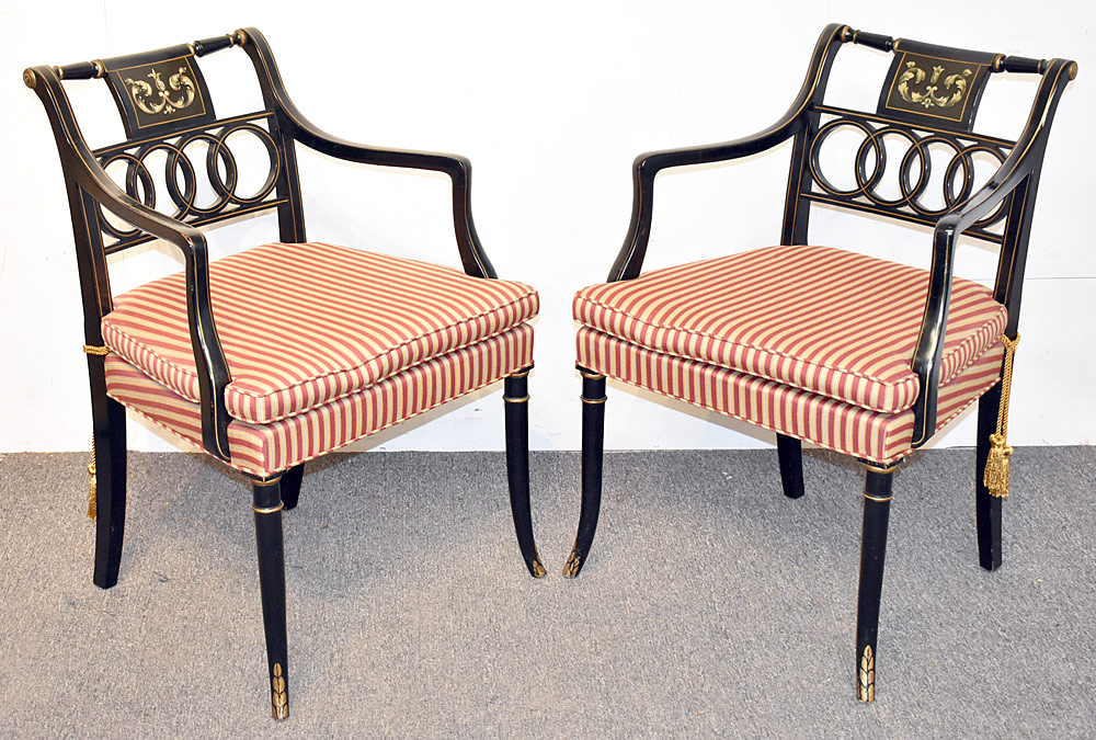 44. Eight Regency-style Dining Chairs. $1,168.50