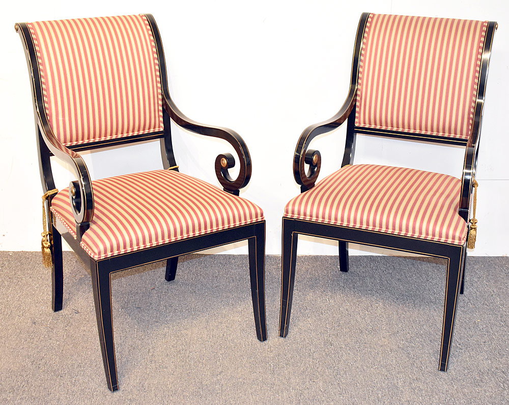 45. Pair of Kindel Regency-style Armchairs. $430.50