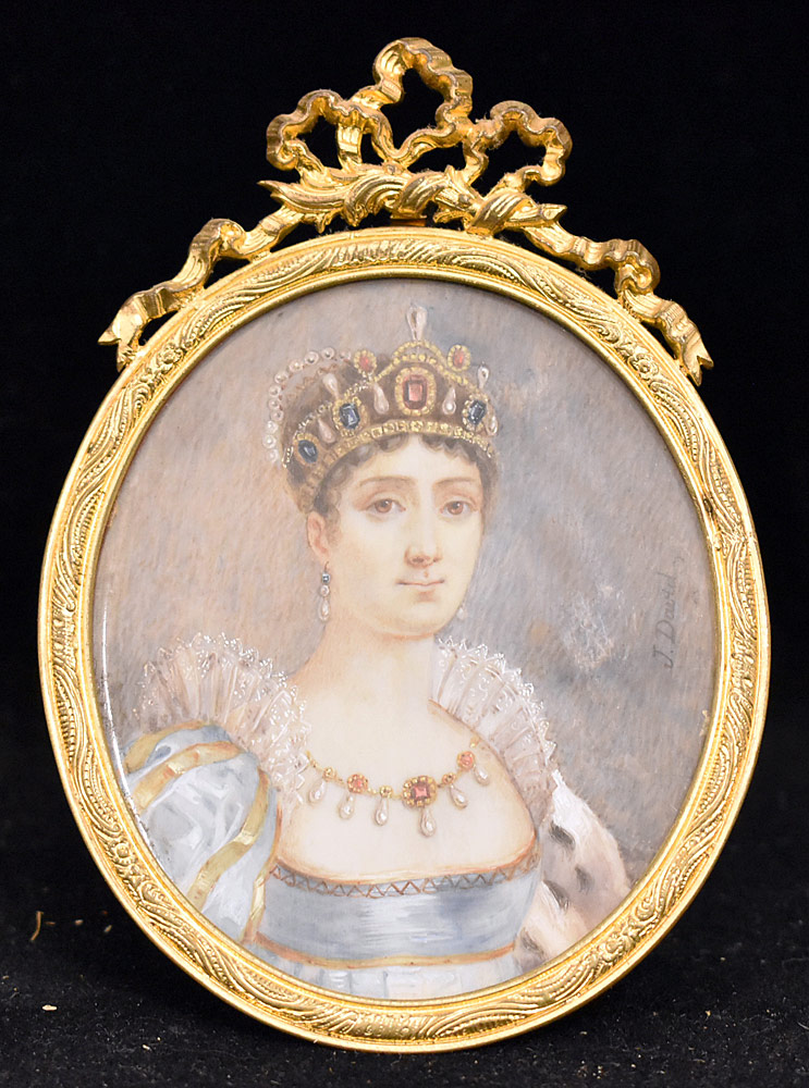 53. Miniature French Portrait of Empress Josephine. $147.50