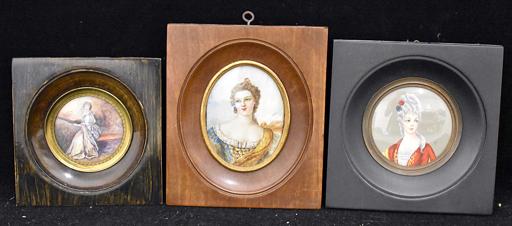 56. Three Miniature Portraits of Women. $147.50