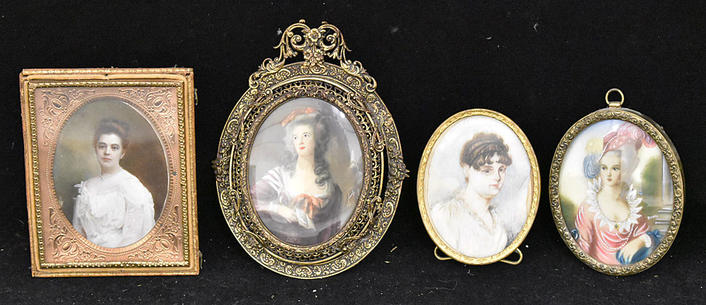 57. Four Miniature Portraits of Women. $177