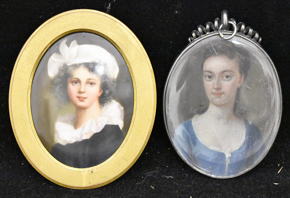 58. Two Miniature Portraits of Women. $472