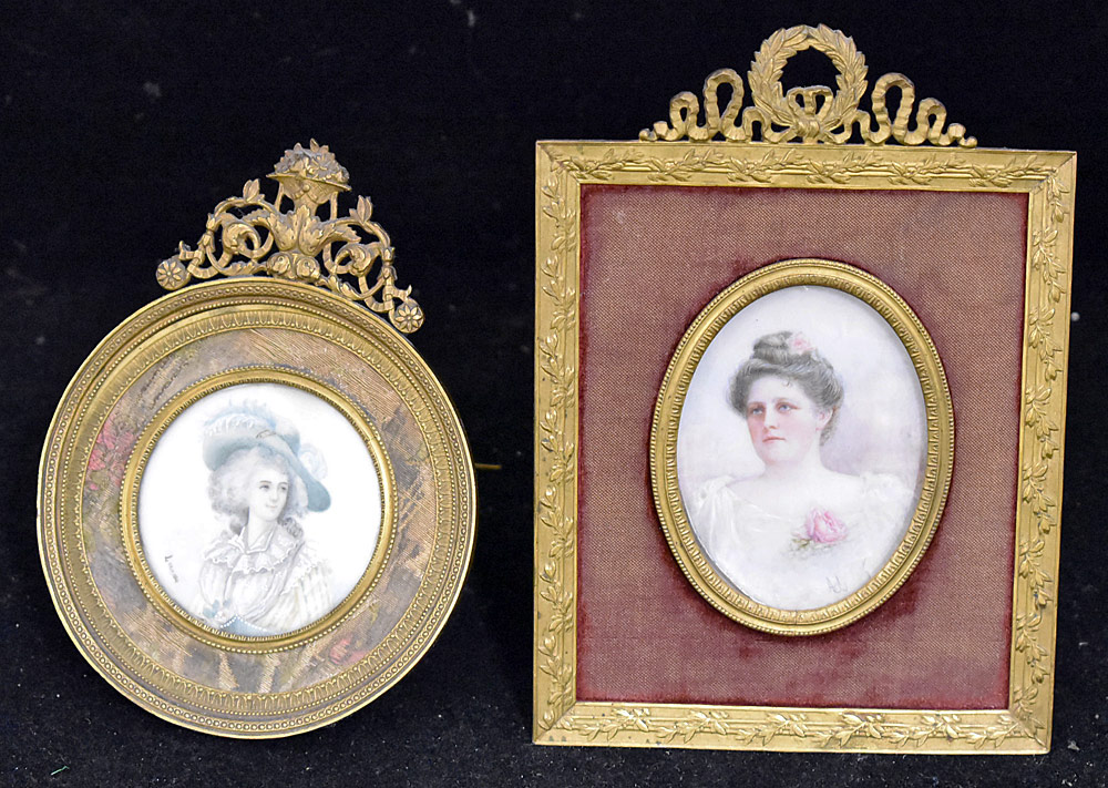 60. Two Miniature Portraits of Women. $276.75