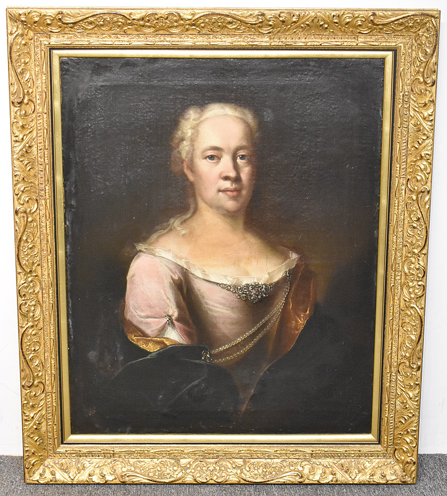 75. Unsigned Oil on Canvas, Portrait of a Woman. $649