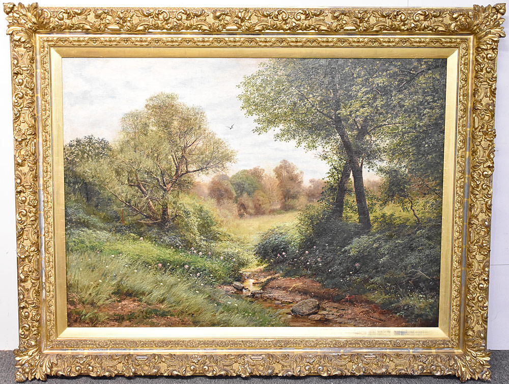 82. Christopher High Shearer Oil on Canvas, Landscape. $3,540