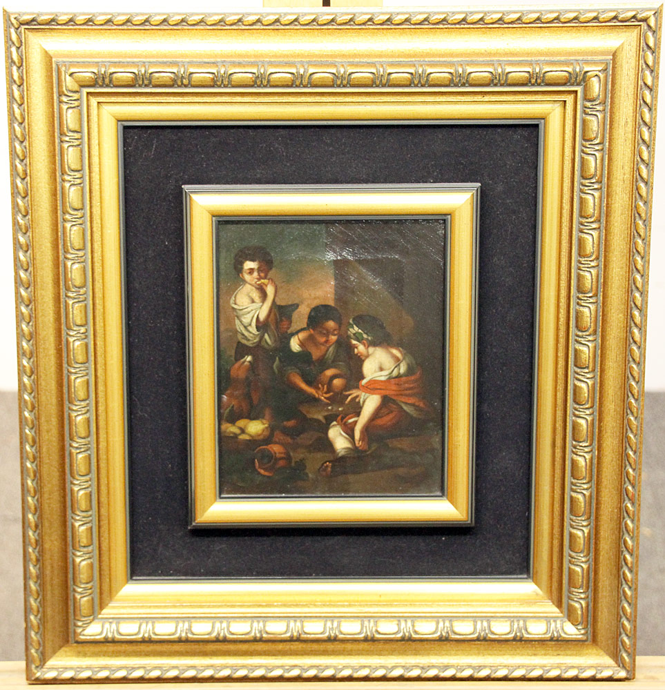 86. After Bartolome Murillo Oil/Canvas, Genre Scene. $177