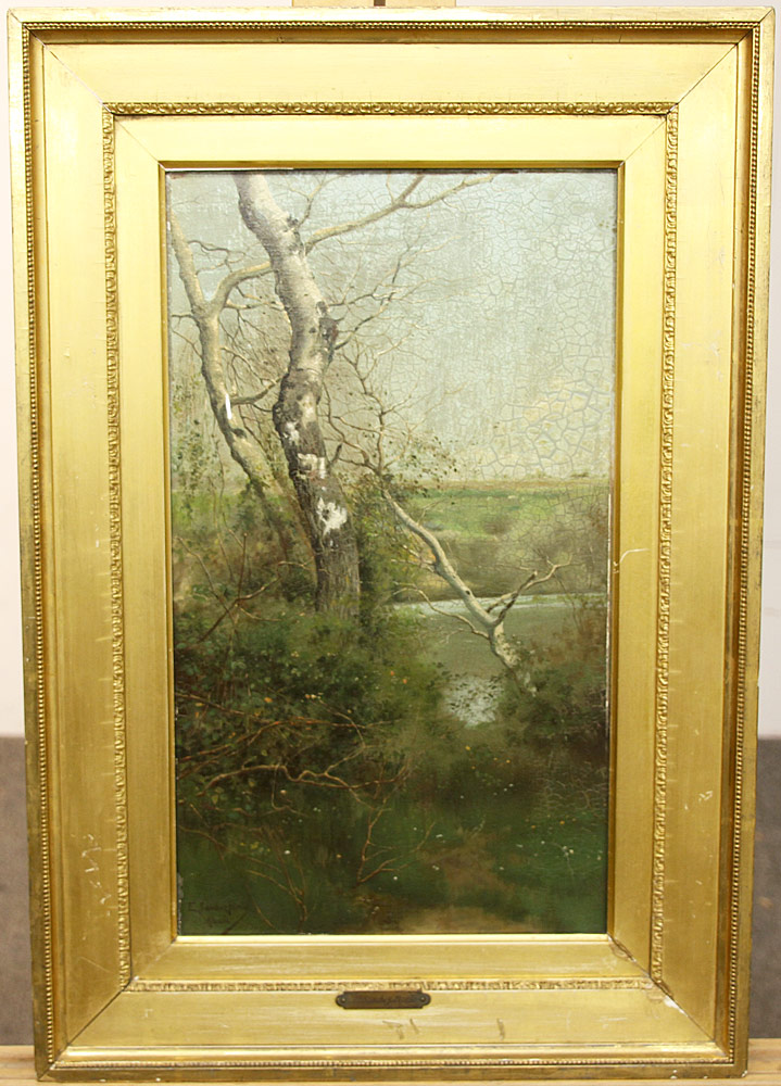 88. Emilio Sanchez-Perrier Oil/Panel, Landscape, Alcala. $3,444