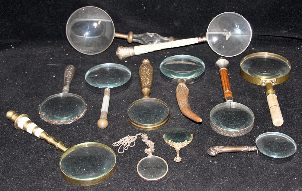 92. Collection of Twelve Magnifying Glasses. $676.50