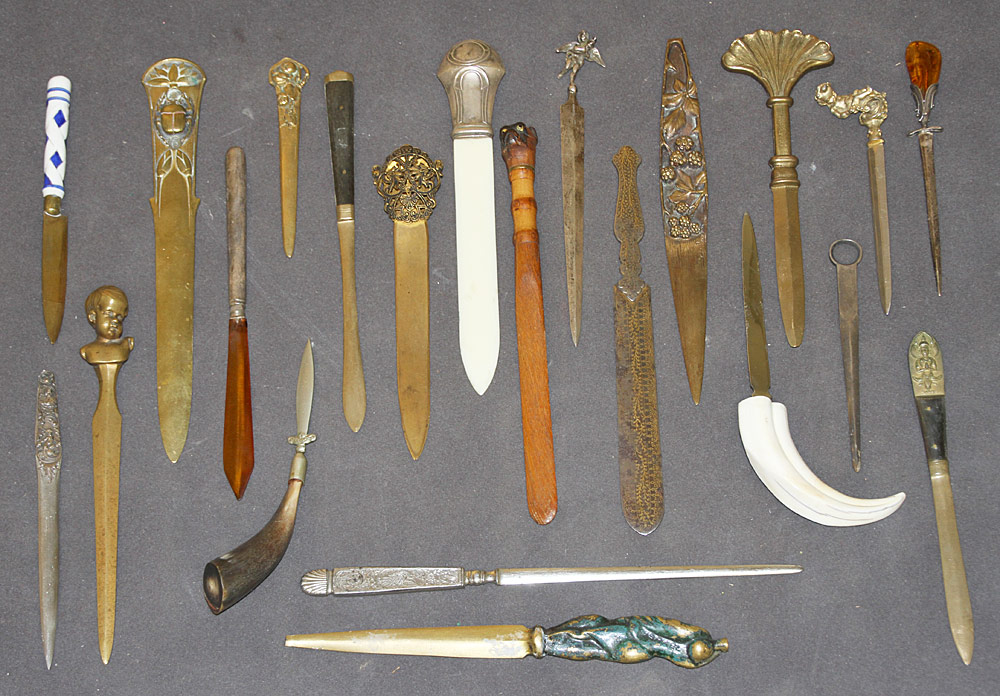 93. Collection of Twenty-two Letter Openers. $501.50