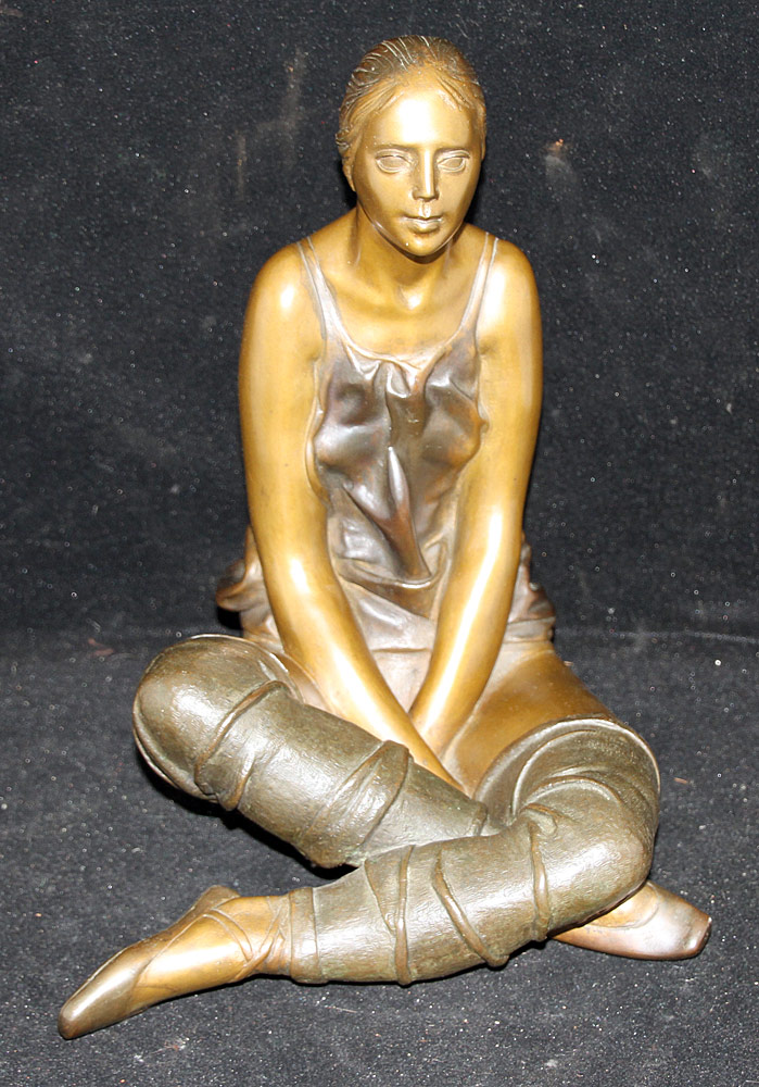 96. Sergio Benvenuti Cast Bronze Sculpture, Dancer. $354