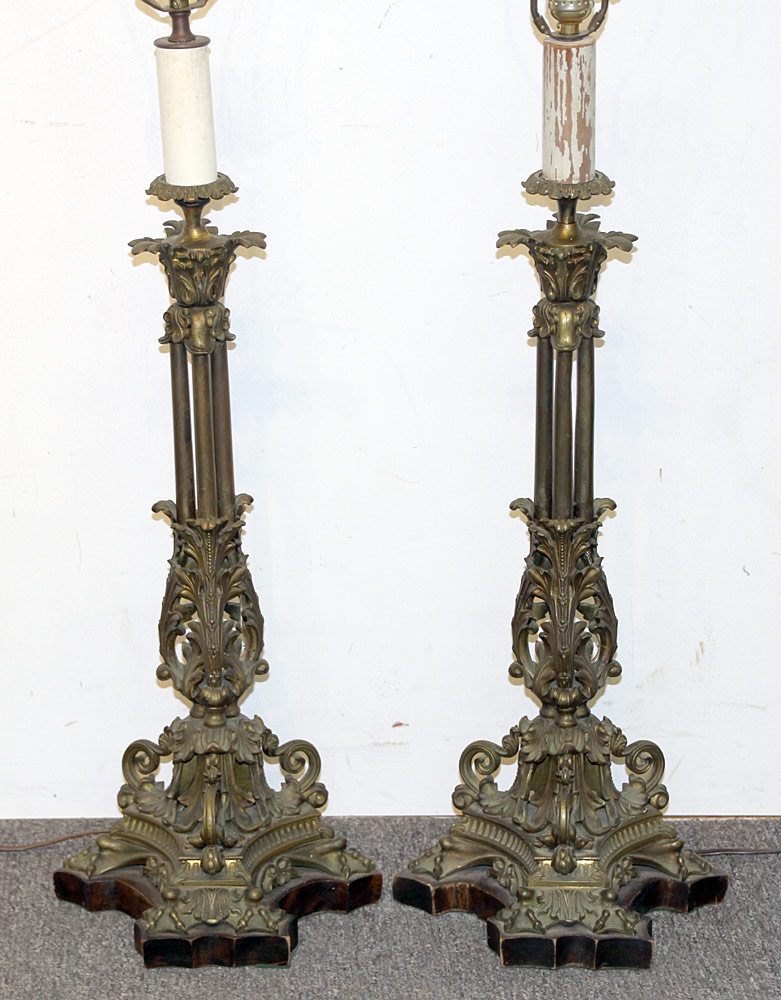 101. Pair of French Bronze Table Lamps. $461.25