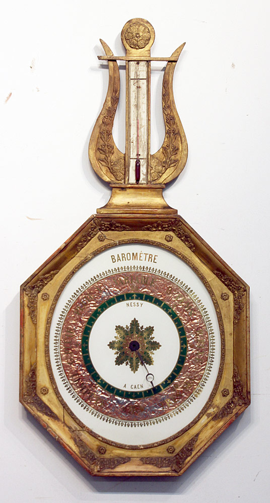 112. French Gilt Wood Barometer. $676.50