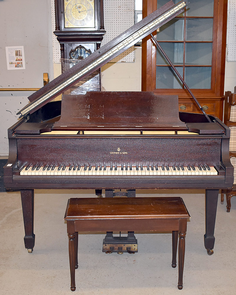 115. Steinway Model M Mahogany Baby-Grand Piano #222588. $4,428