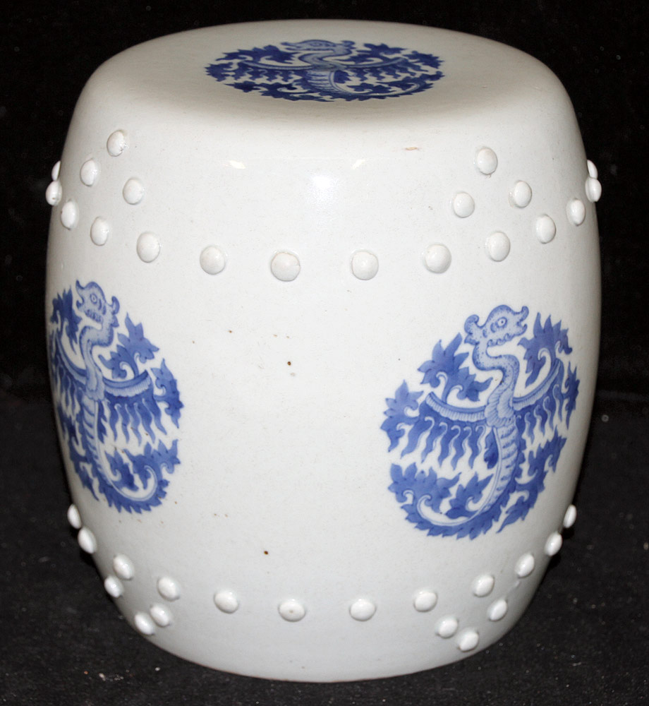 130. Miniature Chinese Porcelain Garden Seat. $590