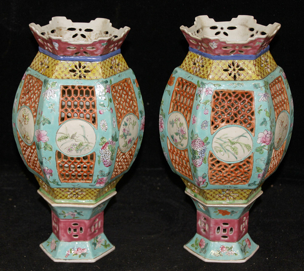133. Pair of Chinese Porcelain Lanterns. $1,599