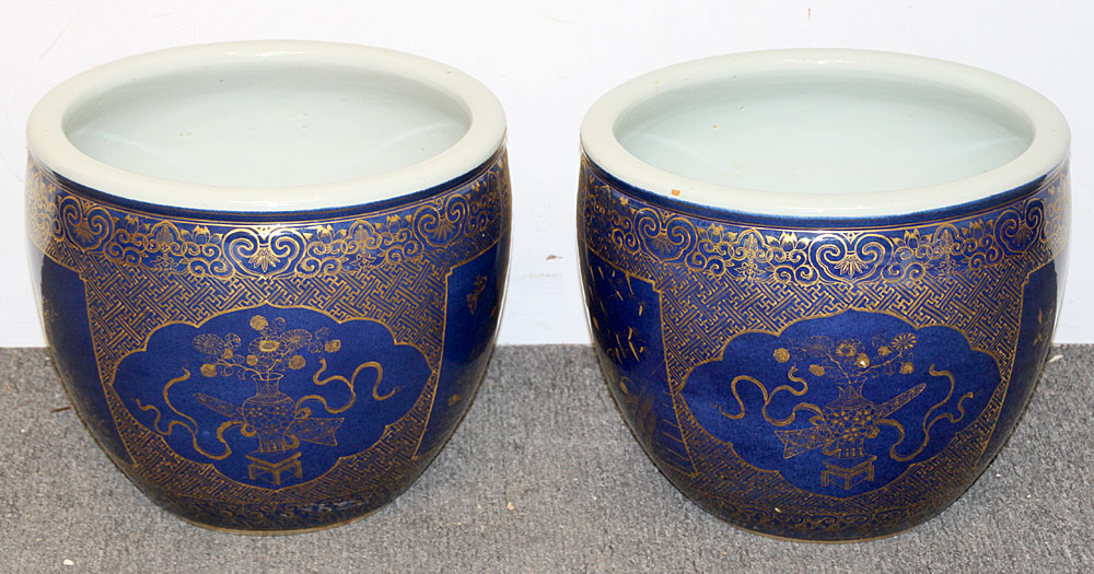 142. Pair of Chinese Porcelain Jardinières. $2,832