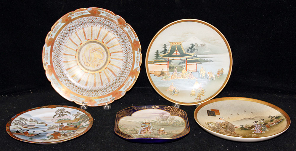 145. Five Japanese Porcelain Plates. $184.50