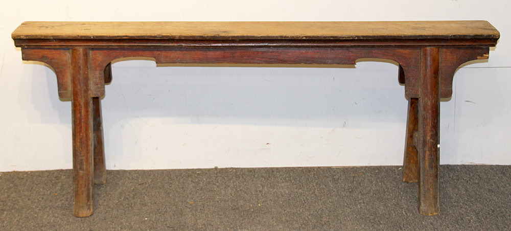 155. Chinese Hardwood Bench. $184.50