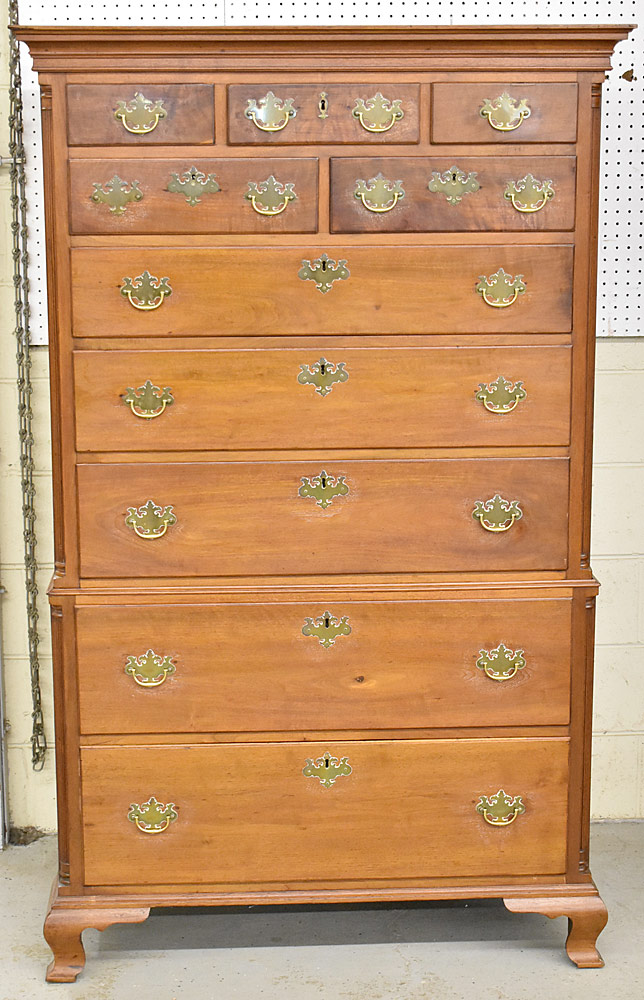 176. Chippendale Walnut Chest-on-Chest. $1,888