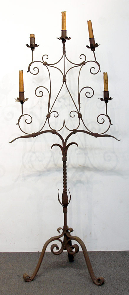 178. Wrought Iron Standing Candelabra. $236