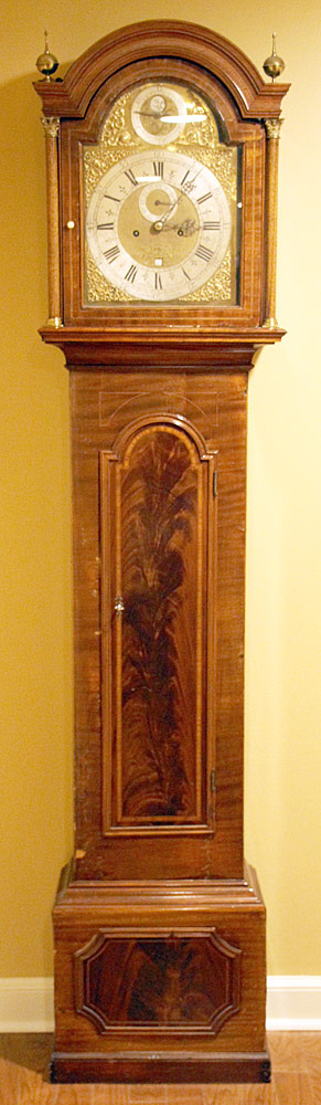 183. Cornelius Herbert Queen Anne Tall Case Clock. $885
