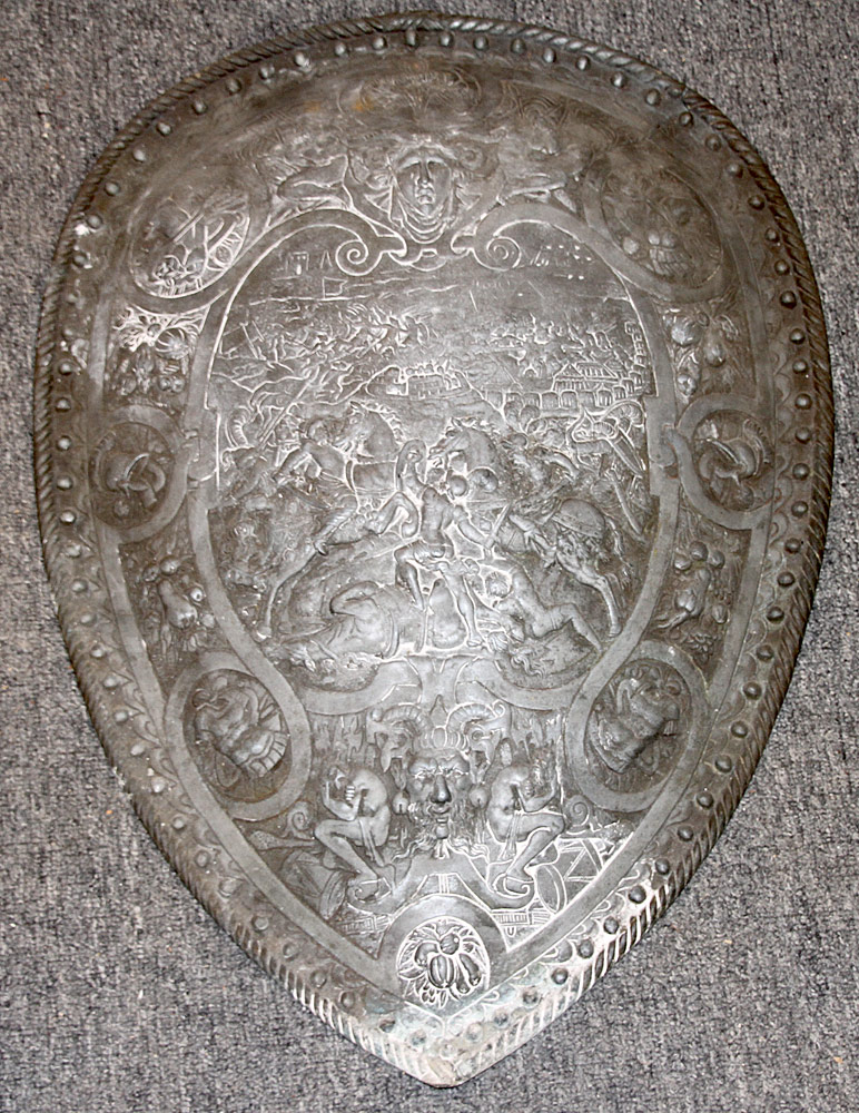 186. Continental Cast Metal Shield Plaque. $354