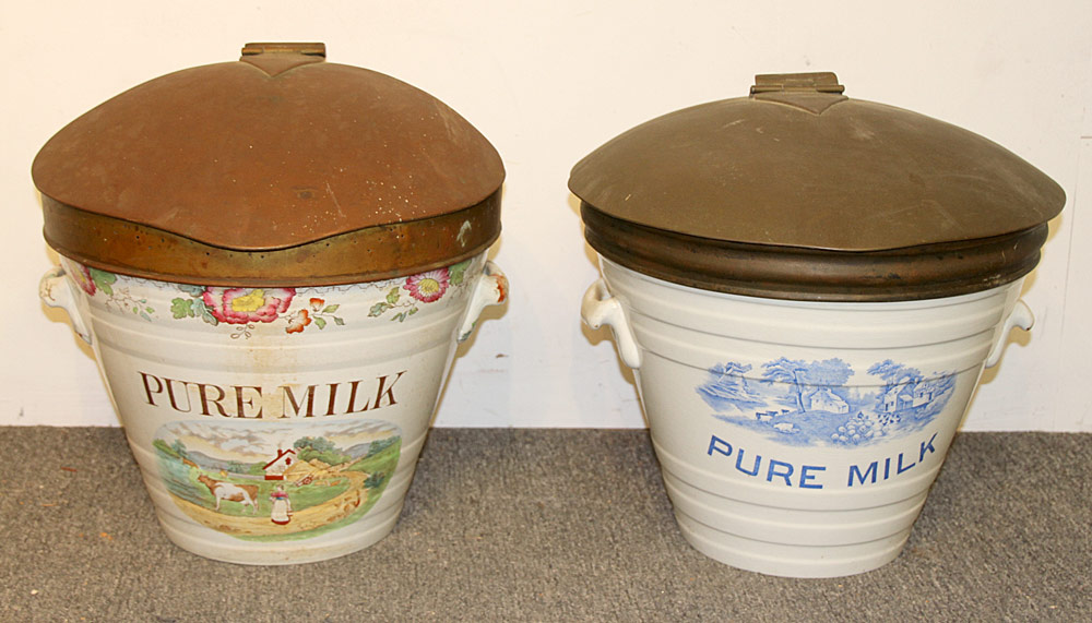 187. Two English Ironstone Milk Pails. $1,845