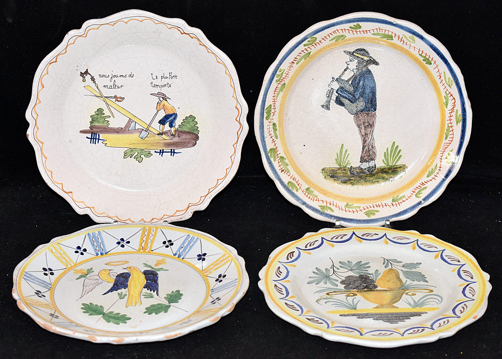 189. Four French Faience Pottery Plates. $118