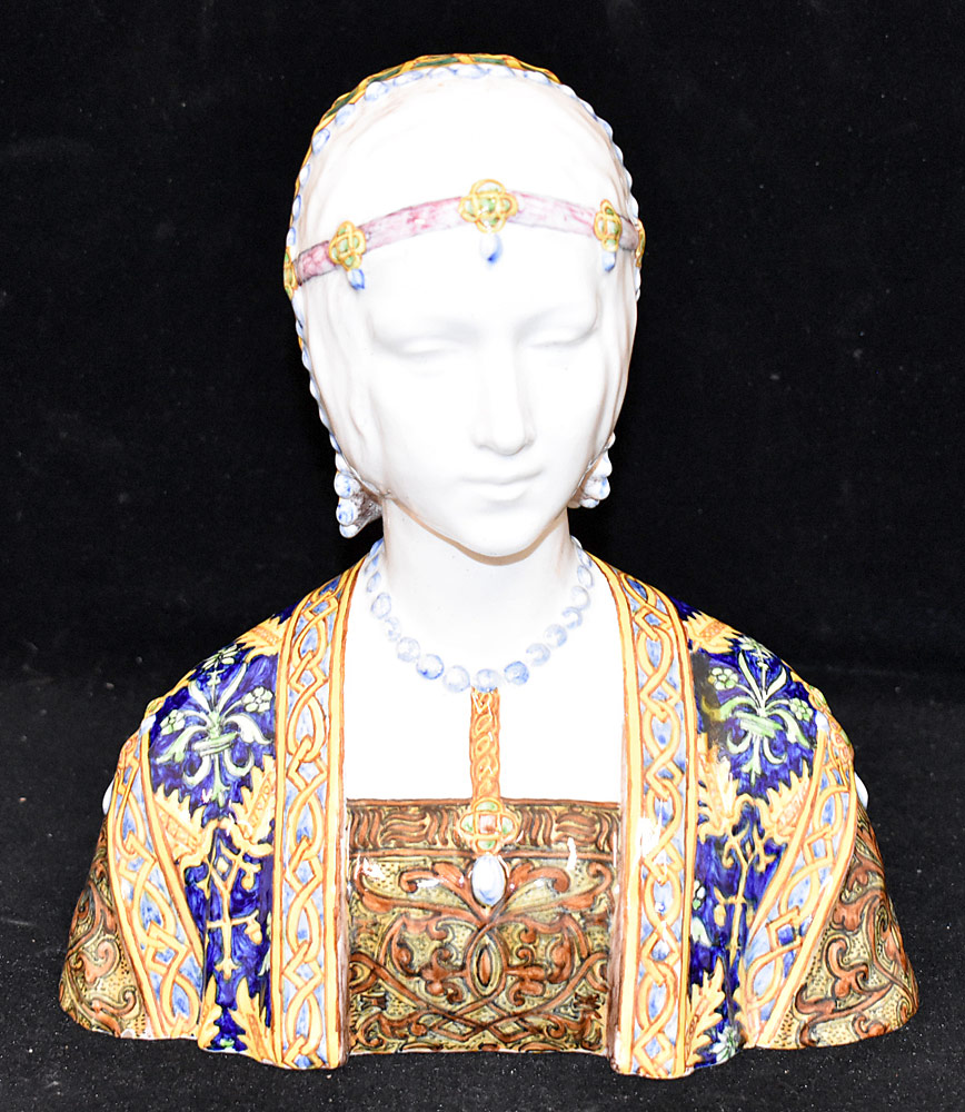 190. Italian Faience Bust of a Maiden. $276.75
