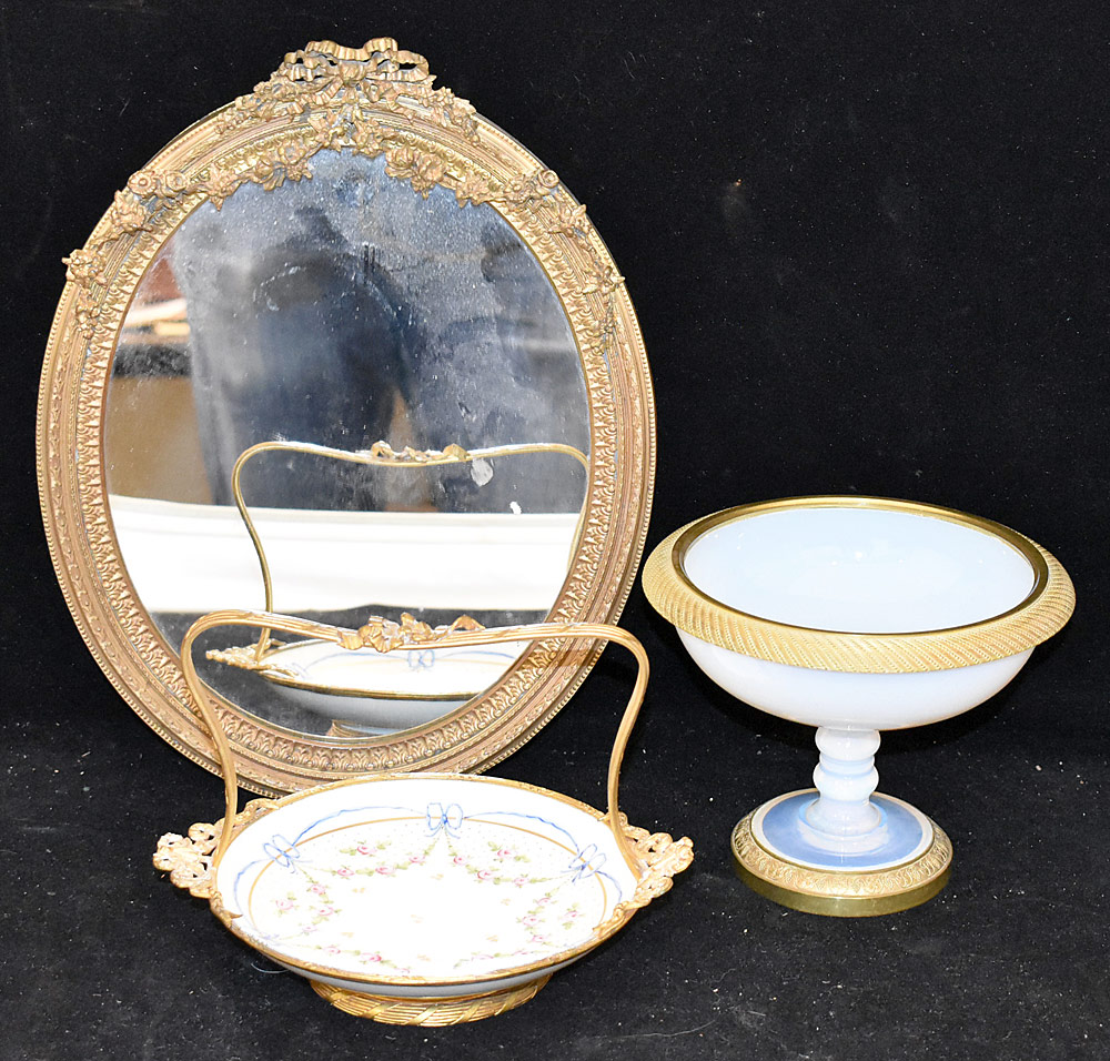 204. Three-piece French Decorative Grouping. $215.25