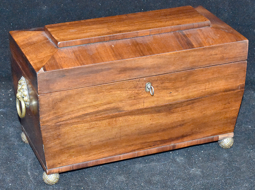 205. English Mahogany Tea Caddy. $147.50