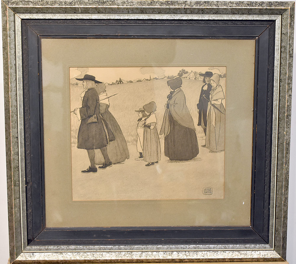 209. Jessie Willcox Smith Charcoal on Paper. $3,304