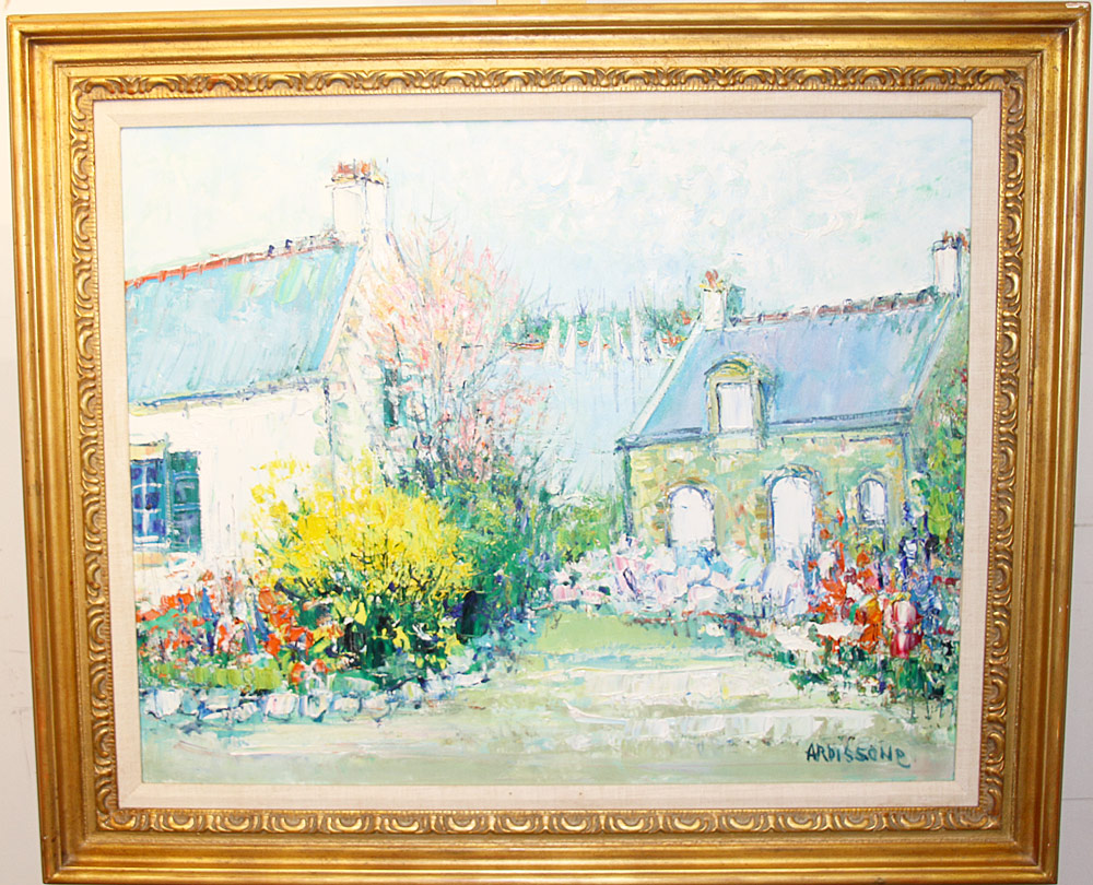 211. Yolande Ardissone Oil on Canvas, Landscape. $1,968