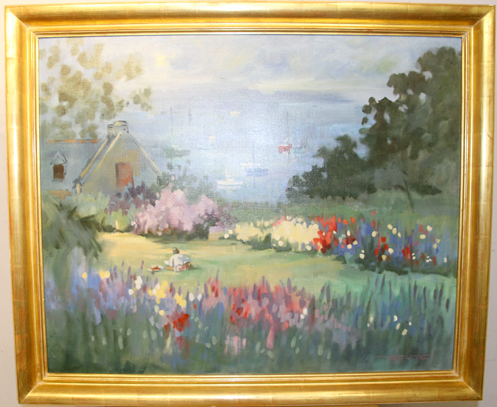 212. Tanguy le Roy Oil on Canvas, Brenton En Fleur. $531