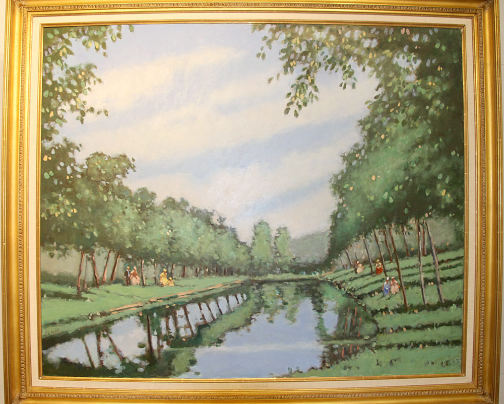 215. Frederick McDuff Oil on Canvas, Reflections. $1,298