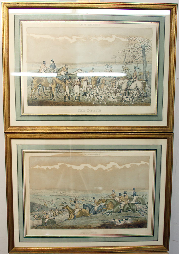 217. Two Hunt Scene Lithographs After Henry Alken. $59